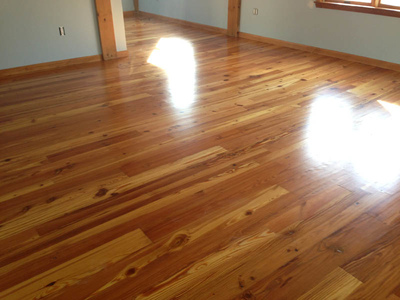Reclaimed Heart Pine Character - Satin Urethane Finish