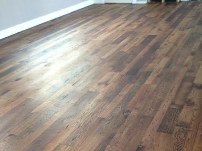 Reclaimed Oak Distressed with Rubio Castle Brown 2C Oil