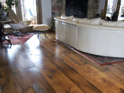 Reclaimed Oak Distressed with Oil Sealer & Satin Urethane