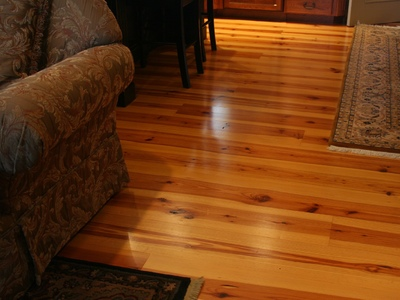 New Heart Pine Character - Satin Urethane Finish (6mos. after install)