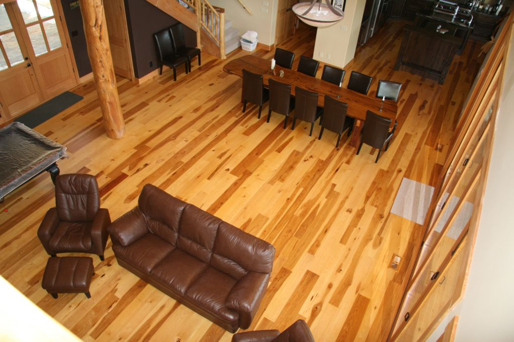 That Is The Number Hickory Receives On Janka Hardness Scale And It Highest Rating For Any Flooring We This Floor Rock Hard But If You