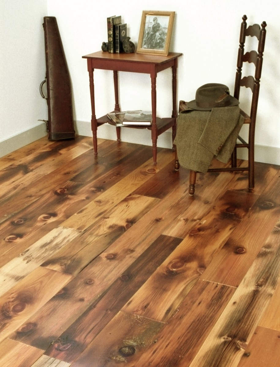 Kd woods company reclaimed white pine distressed for Pine wood flooring
